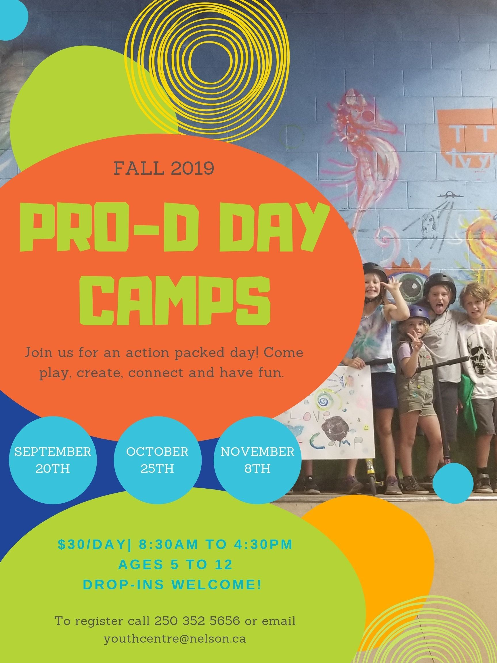 Pro-d Day camps Fall