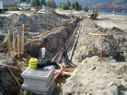 Underground Electrical Lines Being Installed